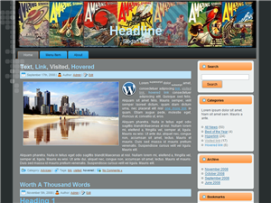 WordPress Theme Sci Fi v1.0